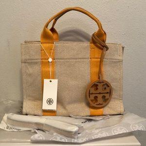 Tory Burch Mini Miller Canvas Tote Crossbody Bag
